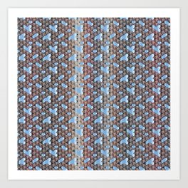 Traditional Japanese pattern YABURE-SEIGAIHA Art Print