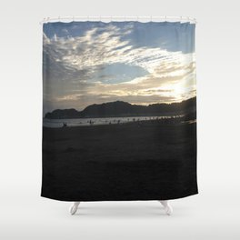 The sunset of Kamakura beach Shower Curtain