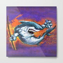 Graffiti Shark Metal Print