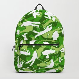 Golf Lover Pro Golfer Camo Camouflage Pattern Green Backpack