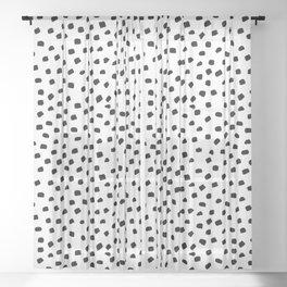 Dalmatian Dots Black White Spots Sheer Curtain