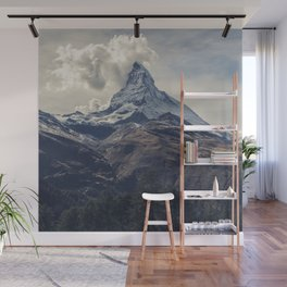 Distant Mountain Peak Wall Mural