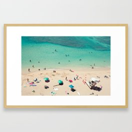 Waikiki Beach - Honolulu, Hawaii Framed Art Print