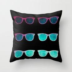 NEO GLASSES Throw Pillow