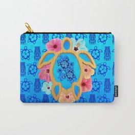 Hawaiian Blue Honu Carry-All Pouch