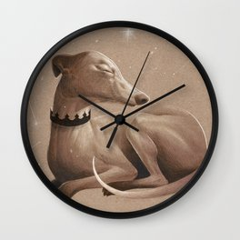 All the dogs in the sky Wall Clock