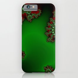 Mandelbrot - Green iPhone Case