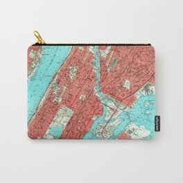 Vintage Map of Uptown Manhattan & The Bronx (1956) Carry-All Pouch
