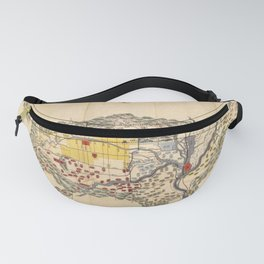 Map of Yamashiro province (with Kyoto), 19th century Japan Fanny Pack