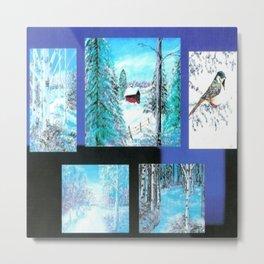 """ Winter Collage II "" Metal Print"