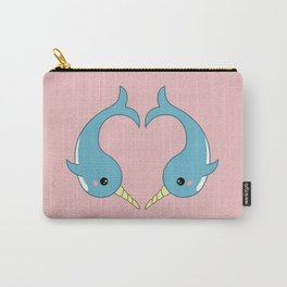 Narwhal heart Carry-All Pouch