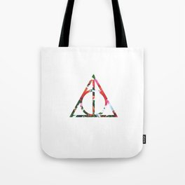 The Deathly Floral Hallows Tote Bag