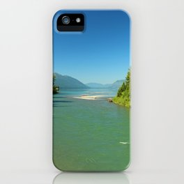Green Waters Of McDonald River And Lake iPhone Case