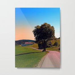 A tree, a road and summertime Metal Print