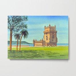 Tower Of Belem Lisbon Portugal Metal Print