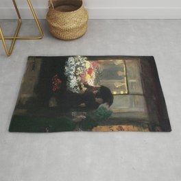 American Masterpiece 'Easter Eve' Washington Square, NY by John French Sloan Rug