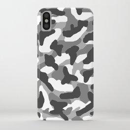 Grey Gray Camo Camouflage iPhone Case