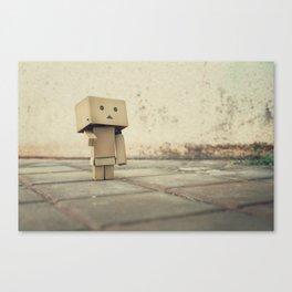 Danbo on the street Canvas Print