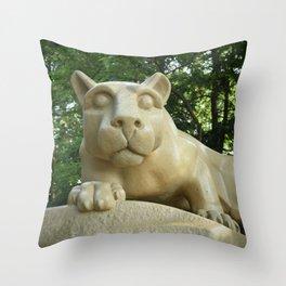 Penn State University Nittany Lion Shrine Color Print Throw Pillow