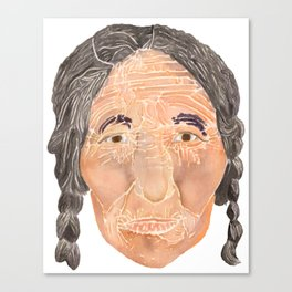 Face of a Nomad - White Canvas Print