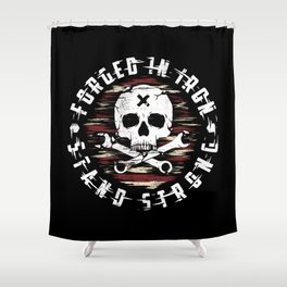 Forged In Iron Shower Curtain
