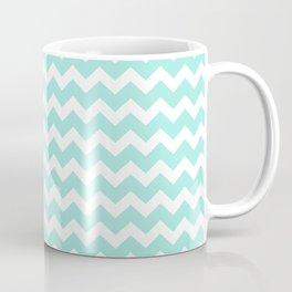 Green Chevron Coffee Mug