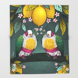 Yellow Headed Fruit Dove Throw Blanket