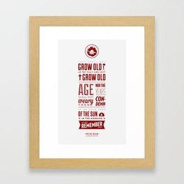 Ode of Remembrance Framed Art Print