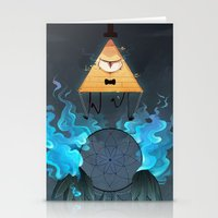 bill cipher Stationery Cards featuring Bill Cipher by Maplespyder