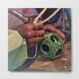 Carving Jade Metal Print