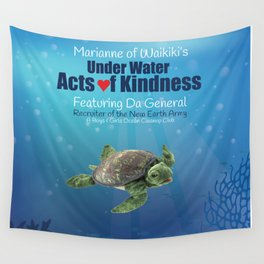Under Water Acts of Kindness: Da General Wall Tapestry