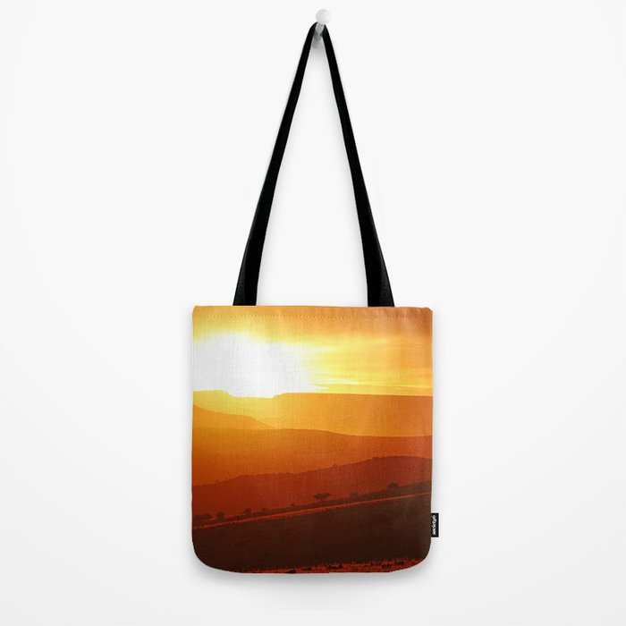 Golden morning in Africa Tote Bag