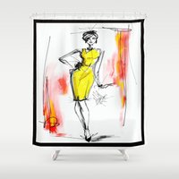 sketch Shower Curtains featuring Sketch by Marven RELOADED