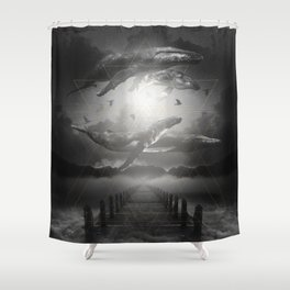 The Space Between Dreams & Reality II Shower Curtain