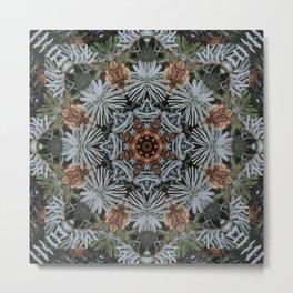 Spruce Cones And Needles Kaleidoscope K4 Metal Print