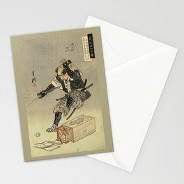 Samurai worrior ukiyoe print Stationery Cards