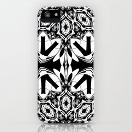 HALF BLACK AND WHITE MANDALA  iPhone Case