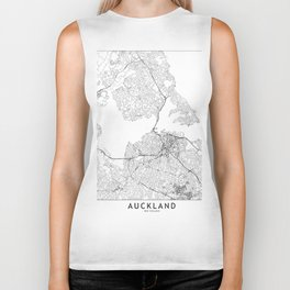 Auckland White Map Biker Tank