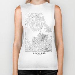 Auckland White Map Biker Tank