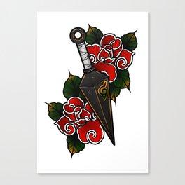Naruto Kunai Akatsuki Rose Canvas Print