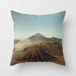 Bromo volcano Mount Bromo Java Island Indonesia Bromo-Tengger-Semeru National Park Throw Pillow