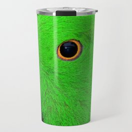 Parrot with banana leaves Travel Mug