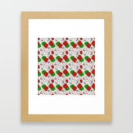 Australian native Floral Print - King Protea Pattern Framed Art Print