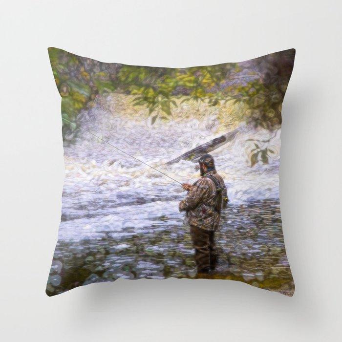Trout fishing Deko-Kissen