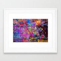 grafitti Framed Art Prints featuring Bright Grafitti by davehare