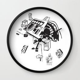 hungry cats - Daytime Wall Clock