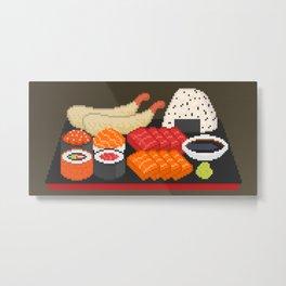 Pixely Japanese Meal Metal Print