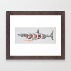 Sushi Mako Framed Art Print