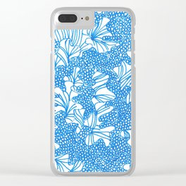 March's Blue 4   Artline Drawing Pens Sketch Clear iPhone Case