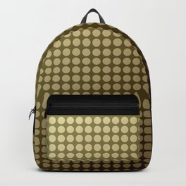 Olive green polka dot pattern . Backpack